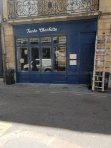 peinture devanture magasin bordeaux